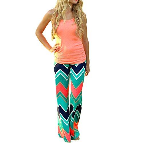 Dream Garden Women's Diagonal High Waist Flared Palazzo Pants. S to XL