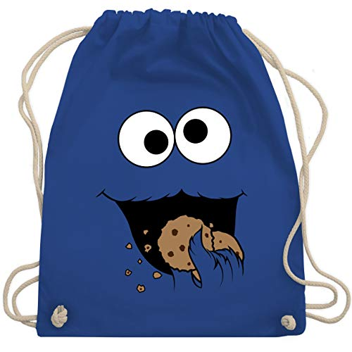 Karneval & Fasching - Keks-Monster - Unisize - Royalblau - WM110 - Turnbeutel & Gym Bag