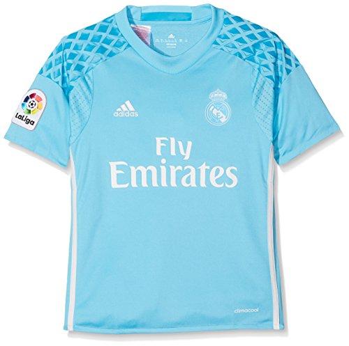 adidas H Gk Jsy Y Camiseta 1ª Equipación de Portero del Real Madrid Cf 2015/16, Niños, Azul / Blanco, 11-12 años