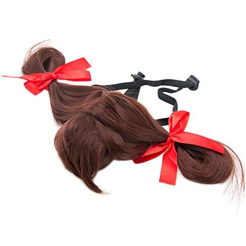 POPETPOP Popopopp Hundeperücke, lockiges Haar, weich, farbig, gelockt, für kleine ()
