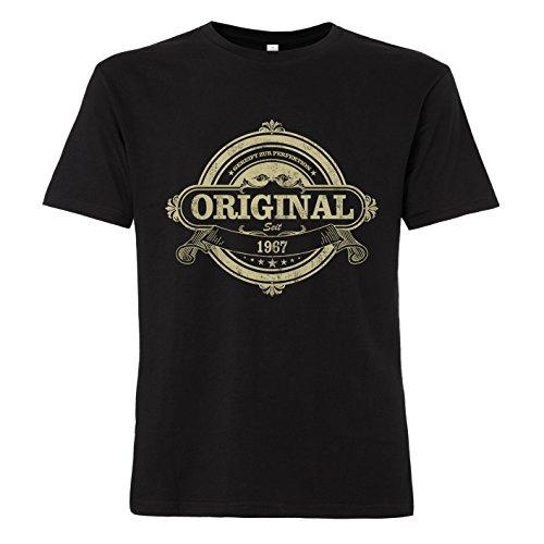 ShirtWorld Original Seit 1967 Zum 51. Geburtstag - T-Shirt Schwarz