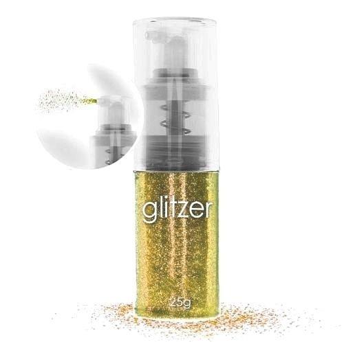 25g Glitterpuder Spray. GOLD.Auch für Haut und Haar ! Glitzer in der Pumpflasche. Deutschland