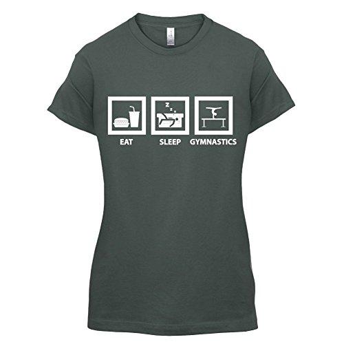 Eat Sleep Gymnastics - Damen T-Shirt - 14 Farben Dunkelgrau