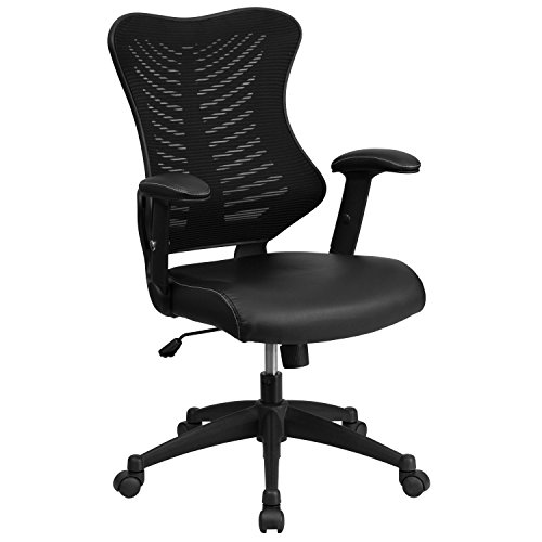 flash-furniture-high-back-black-mesh-chair-with-leather-seat-and-nylon-base
