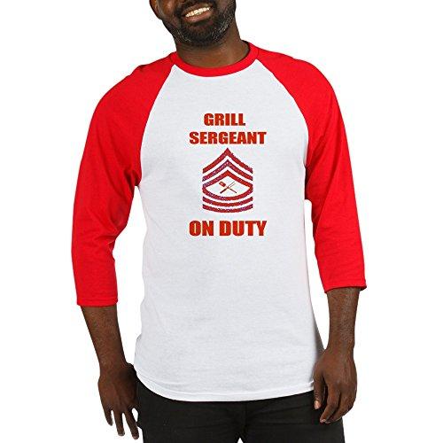 f9937aefe8b CafePress - BBQ Grill Sergeant Baseball Jersey - Cotton Baseball Jersey