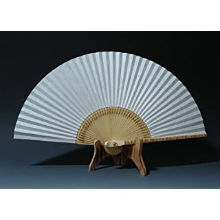 Folding Korean Mulberry Rice White Paper Bamboo Art Wooden Asian Oriental Wall Deco Handheld Decorative Fan