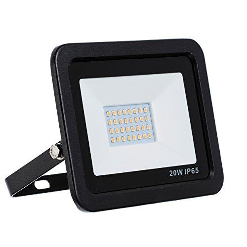 LED Strahler, LED Fluter, 20 Watt Kaltweiss LED Flutlicht Slim, 20W 1800 Lumen Ersetzt 200 Watt, 220-240V, LumenTEC