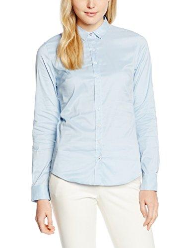 Tommy Hilfiger Amy Str Shirt Ls W1, Blouse Femme Bleu (POWDER BLUE 499)