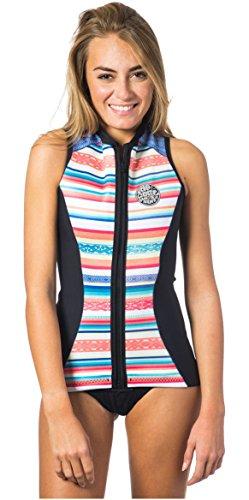 RIP CURL 2017 G Bomb 1mm Sleeveless Neoprene Vest Stripe WVE6BW Sizes- - Ladies 8