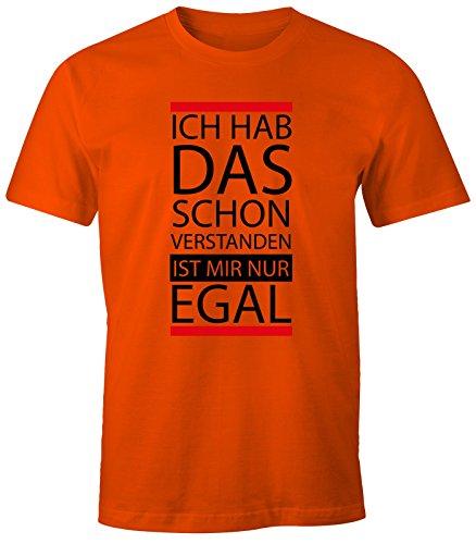 lustiges Herren T-Shirt - Ich hab das schon verstanden, ist mir nur egal - Fun-Shirt MoonWorks® orange L