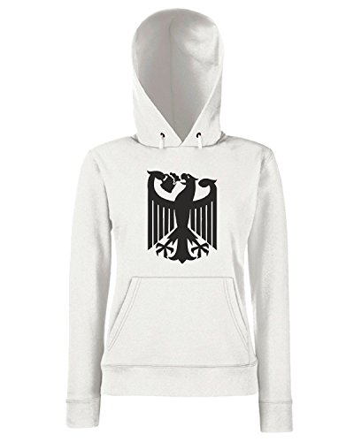 T-Shirtshock - Sweats a capuche Femme BEER0067 Germany coat of arms eagle beer Blanc