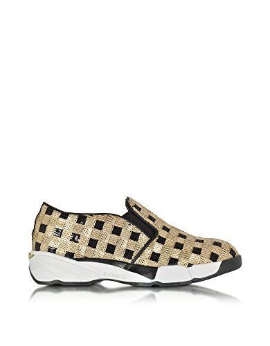 PINKO SLIP ON SNEAKERS DONNA 1H208DY2L1ZZLGOLD PAILLETTES ORO