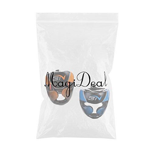MagiDeal 2 Stk. Unisex PU Boxen Kopfschutz Gesichtsschutz für MMA Boxen Sparring Abbildung 3