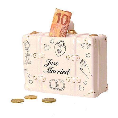 Flitterwochen - Koffer Spardose - Flitterwochen - Koffer Sparbüchse Sparschwein Hochzeit
