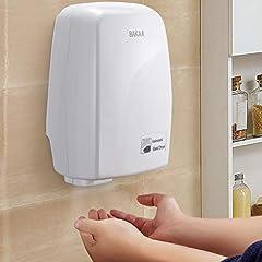 Idea Regalo - BAKAJI Asciugamani Automatico Elettrico Hotel Asciuga Mani ad Aria Calda da Parete Bagno con Sensore Fotocellula (1000 Watt)