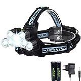 Lampe Frontale Rechargeable Puissante et Confortable de 10000 Lumens,Facile a utiliser,Idéal pour la Course a pied,Trail,Vélo,Running,Camping,Bricolage.
