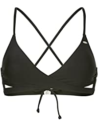 O'Neill Cross Over Bra Top Bikini, Mujer, Negro out, 42