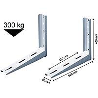 Michl Technik Wandkonsole Halterung W/ärmepumpe 800x550x 560 mm Klimaanlage 200kg MTMS213 LxBxH Klimager/ät wei/ß
