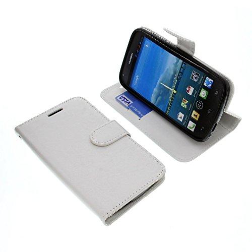 foto-kontor Tasche für Huawei Ascend Y600 Book Style weiß Schutz Hülle Buch