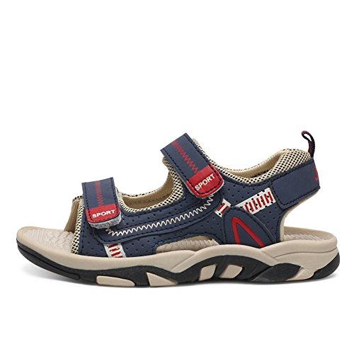 Luerme Sandales Garçon Enfant Été Chaussures Sport Sandales Bout Ouvert Plage Respirant Mixtes Chaussures Randonnées Bleu
