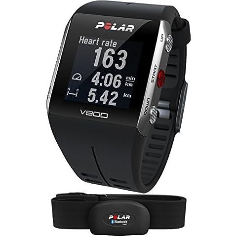 Polar V800 Orologio GPS multisport per monitoraggio attività fisica, altimetro barometrico, con fascia cardio bluetooth (Max Carico Di Lavoro)