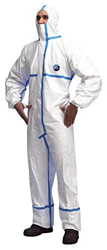 Dupont - Tuta Da Lavoro Usa E Getta Colore Bianco Misura L Tyvek Classic Plus, Le Categorie Iii, Tipo 4, 5