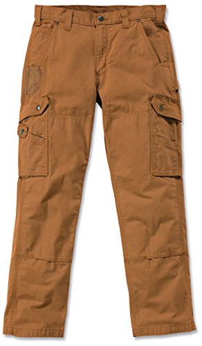 Relaxed Fit, Lange Länge Jeans (Carhartt .B342.BRN.S423 Cargo-Hose, Arbeitshose, Ripstop-Material, Gr. 36/30 (Taille/Länge), Braun)