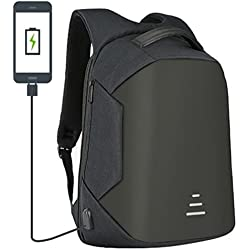 RNG EKO GREEN 30 Litre Anti Theft Travel Backpack / Laptop Bag (16 inch) / School Bag With USB Charging Port - Black (Waterproof, Cut Proof, Durable, Anti-Theft)