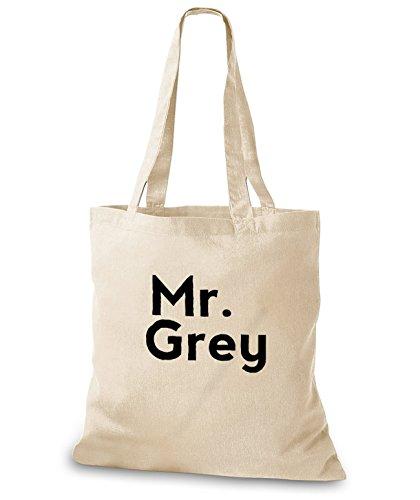 StyloBags Jutebeutel / Tasche Mr. Grey Natur