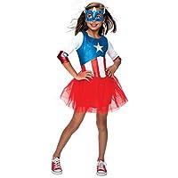 Rubie´s Girls Superhero Tutu Captain America Costume