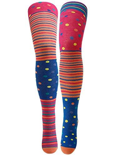 Ewers Mädchenstrumpfhose Strumpfhose Markenstrumpfhose Kleinkind Baby gepunktet gestreift für Kinder (EW-901004-S17-MA2-1658-92/98) in Melone, Größe 92/98 inkl. EveryKid-Fashionguide (Aktive Nahtlose Socken)