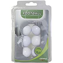 Pelotas de futbolín de Carromco (6x, blanco), 62106