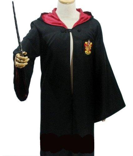 Harry Potter Kostüm [robe + glasses + tie + Zauberstab] 4-Punkt-vollen Satz M Größe Gryffindor Harry Potter Msize
