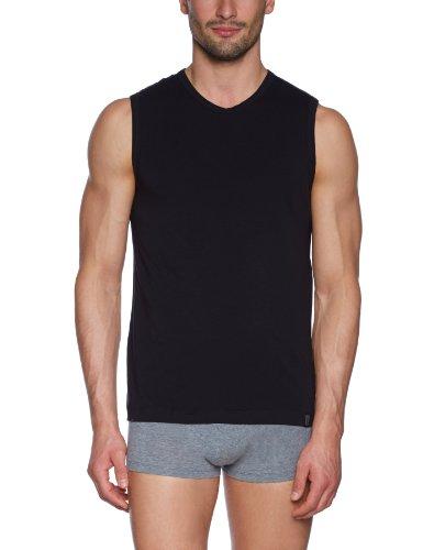 Schiesser Herren Unterhemd Tank Top, Gr. XX-Large (Herstellergröße: 8 (XXL)), Schwarz (000-schwarz) (Tank Top Pyjama)