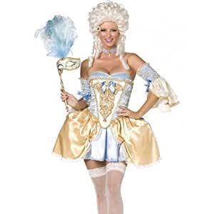 Ladies Sexy 5 Piece Marie Antoinette Baroque Corset Deluxe Fancy Dress Costume Outfit (UK 12-14) by NA