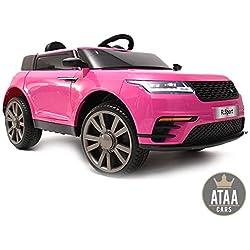 ATAA CARS R-Sport 12v télécommande - Rose - Voiture électrique pour garçons et Filles avec télécommande pour Parents