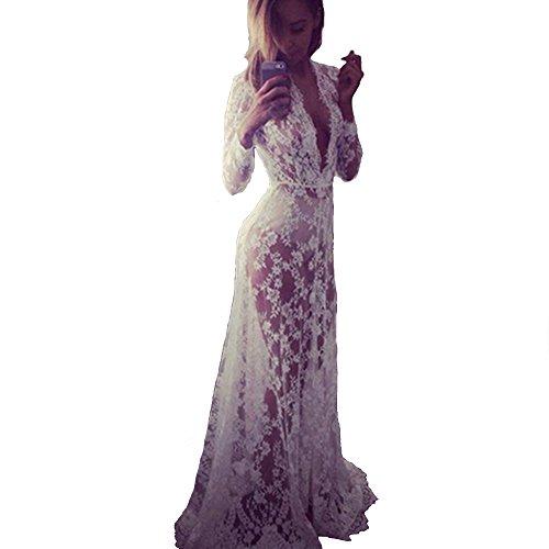 cooshional - Robe - Femme Weiß