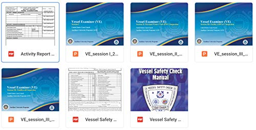 United States Coast Guard Auxiliary Program of Study Course Materials AUP 240 - Vessel Examination (English Edition) - United States Coast Guard Auxiliary