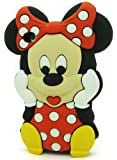 Disney 3D Minnie Mouse Silicone Soft Case Cover for Apple Iphone 5C Red