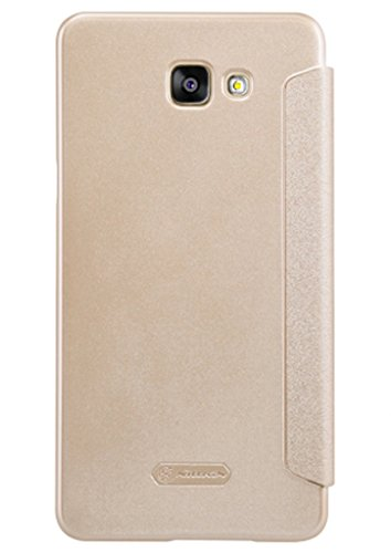 Nillkin Sparkle Series Window Leather Flip Case Cover for Samsung Galaxy A9|A9 Pro-Gold