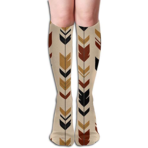 Pillowcase shop Arrow Feathers Khavi Wood Tan,black,gold,maroon Women Tube Knee Thigh High Stockings Cosplay Socks 50cm (19.6 inch) -