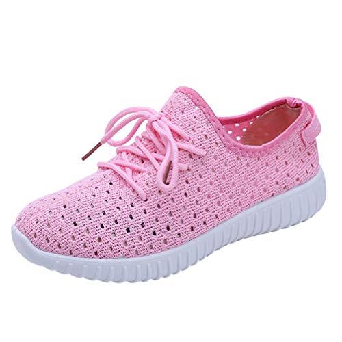 。‿。 Meilleure Vente! LuckyGirls Ceinture Maille Respirante avec des 2018 Chaussures de Course à Fond Plat Femmes Nouveau Mode Solide Couleur Cross Tied Gym Shoes 35-42