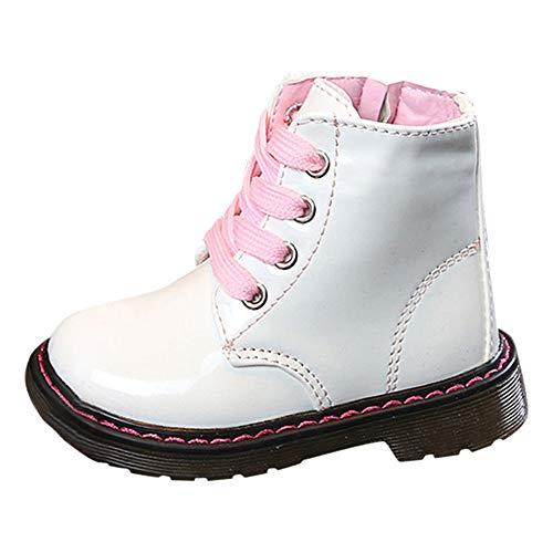 Sonnena Baby Schuhe Sneaker, Kinder Mode Mädchen Lederstiefel Martin Stiefel Winter Schnee Warm Ankle Boots Outdoor Chelsea Schuhe Schnürer hoch-Top Boots