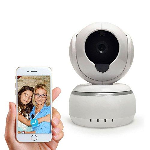 Sicherheit IP-Kamera 720p HD Spy WiFi Wireless Hund und Haustier Kamera, Motion Detection Kamera, Baby Monitor Pan Tilt Mit 2-Wege Audio, Tag/Nacht Vision (unterstützt Micro SD Karte)
