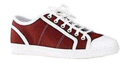 Unbekannt  Sneaker, Chaussures de ville à lacets pour femme Rouge - Bordeaux