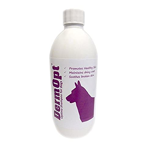 6 in 1 VET CREATED Itchy Dog Shampoo, Conditioner, Moisturiser, Detangle PLUS Eliminates Stinky, Smelly Germs. Soothes Sensitive, Itching Skin & Allergies. SLS, Paraben & Scent-Free by DermOpt®