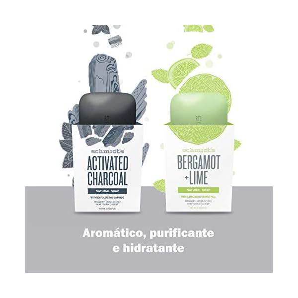 Schmidt's – Gel de ducha sólido charcoal y magnesium – 142 gr