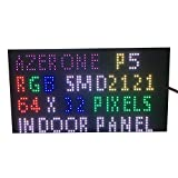 P5 Innen Full Color LED Display Panel 64 x 32 Pixel 320 mm x 160 mm Größe 1/16 Scan SMD 2 in1 Two in One 5 mm RGB Board P5-LED-Modul
