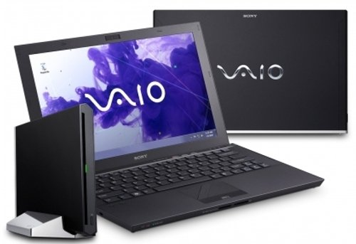 Sony VAIO Z23N9E/B 33,3 cm (13,1 Zoll)  Laptop  (Intel Core i7 2640M, 2,8GHz, 8GB RAM, 512GB HDD,Intel HD 3000, Win XP Pro) schwarz -