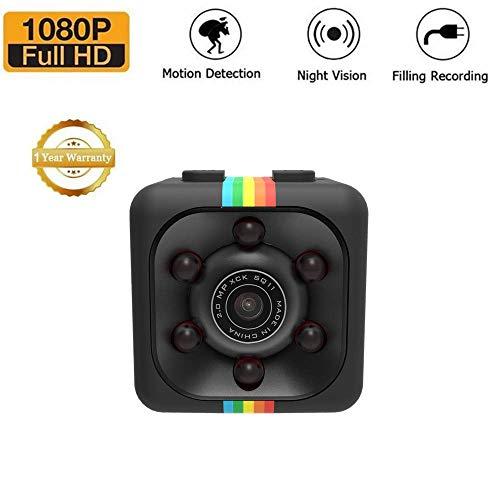 Mini Kamera SQ11 versteckte Kamera HD Camcorder SQ8 SQ9 Upgrade Night Vision Mini Cam 1080P Sports Mini DV voice Video Recorder (schwarz) Night Vision Cam